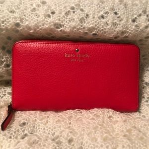 Kate Spade Cobble Hill Lacey Wallet Full Zipper